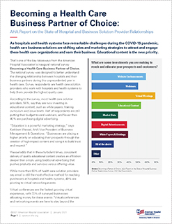 AHA Report on the State of Hospital and Business Solution Provider Relationships